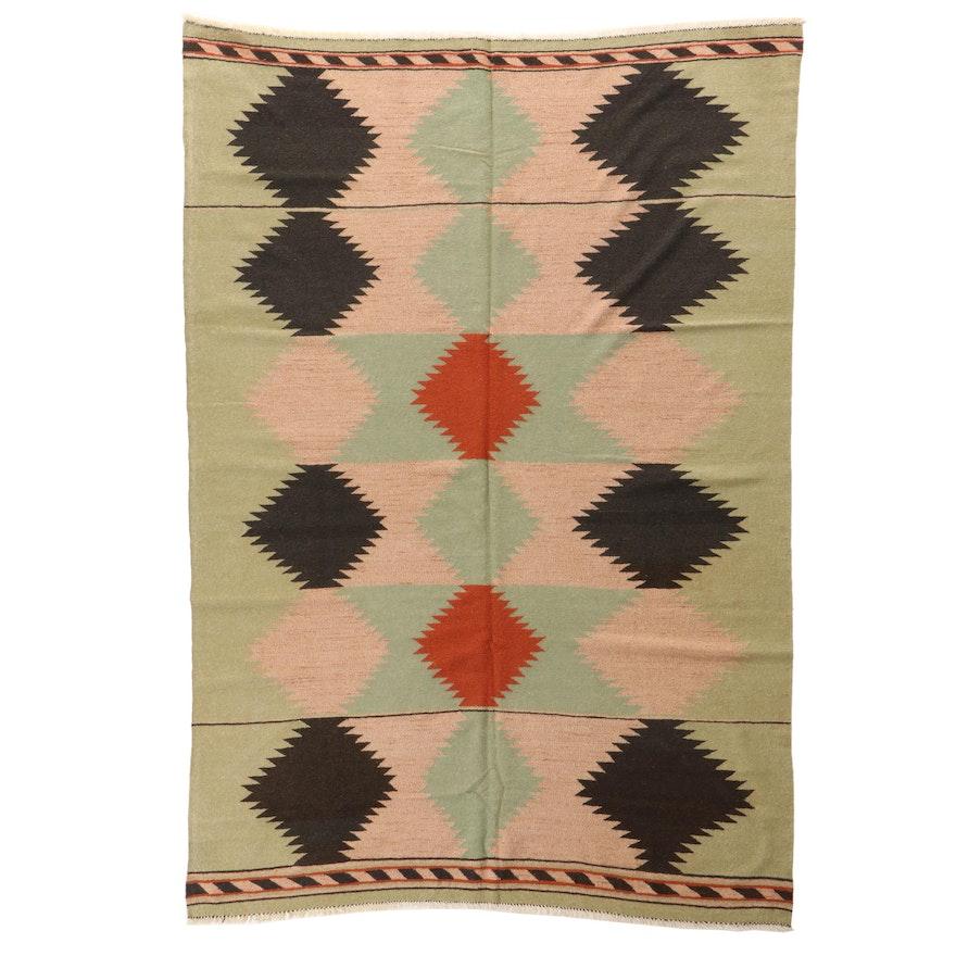 6'6 x 9'3 Handwoven Afghan Kilim Area Rug
