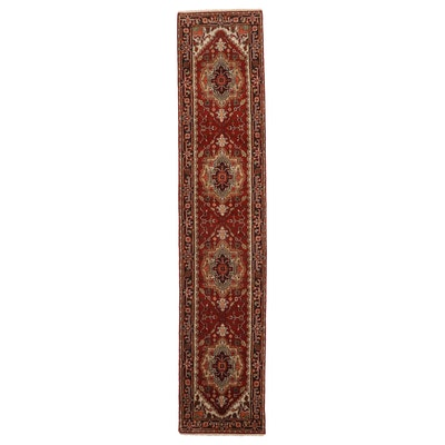 2'5 x 12' Hand-Knotted Pakistani Wool Carpet Runner