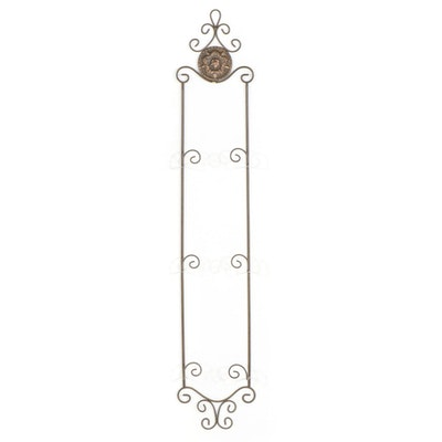 Wrought Metal Wall Hanging Plate Display