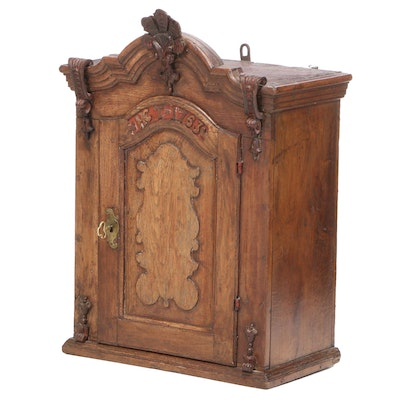 George II Oak Spice Cupboard, Dated 1763