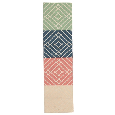 2'1 x 7'10 Handwoven Indian Dhurrie Carpet Runner