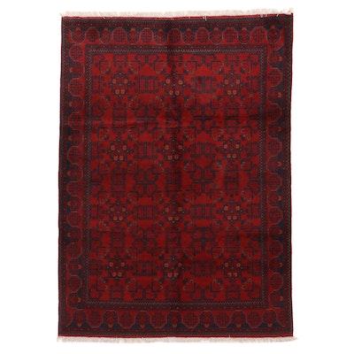 5'7 x 8' Hand-Knotted Afghan Kunduz Area Rug