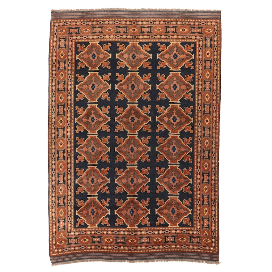 7'1 x 9'4 Hand-Knotted Afghan Area Rug