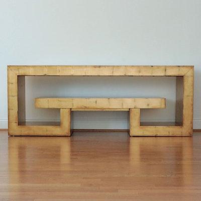 Contemporary Henredon Gilded Console Table