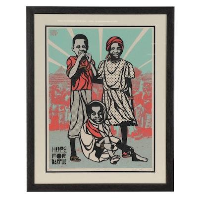 "HOPE Artists Serigraph ""Hope for Darfur,"" 2008"