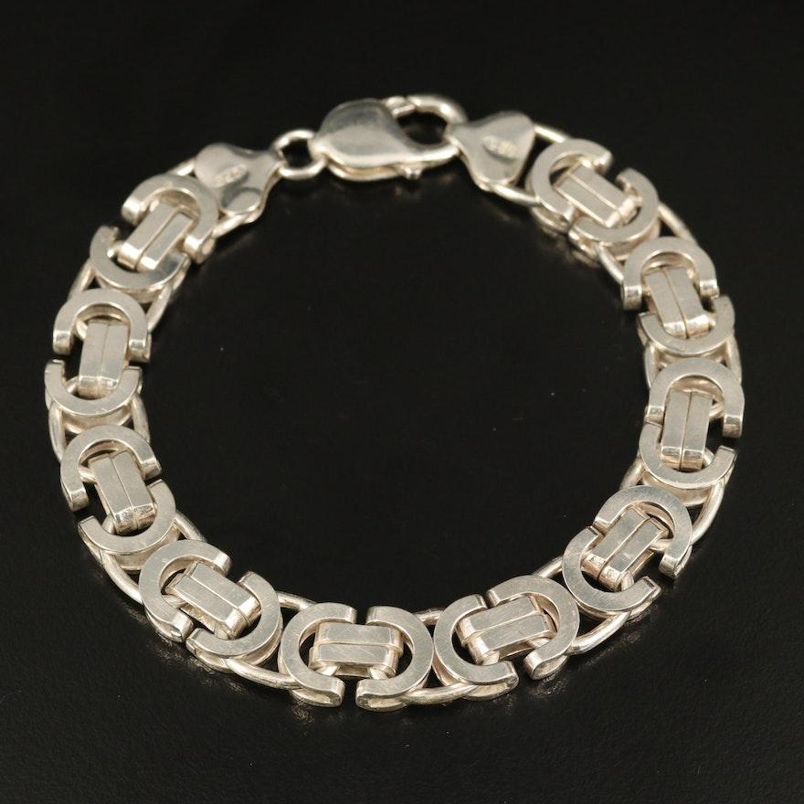 Italian Sterling Byzantine Chain Bracelet
