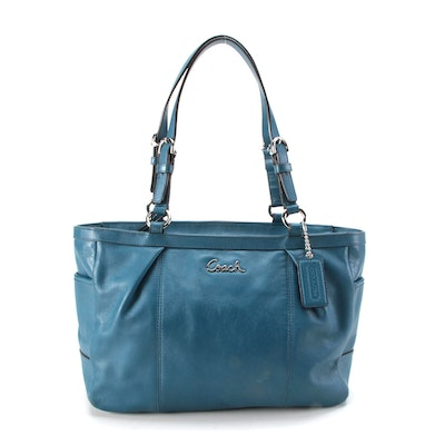 Coach Gallery Blue Leather Tote Bag