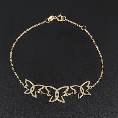 18K Butterfly Bracelet