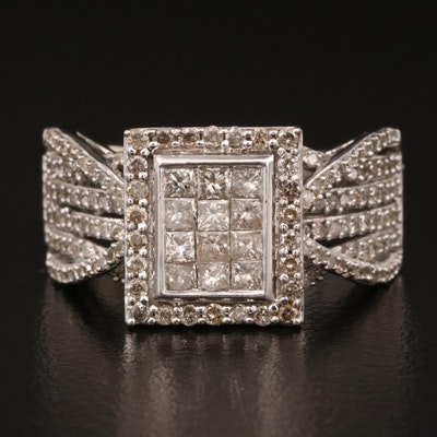 10K Invisible Set 1.02 CTW Diamond Ring