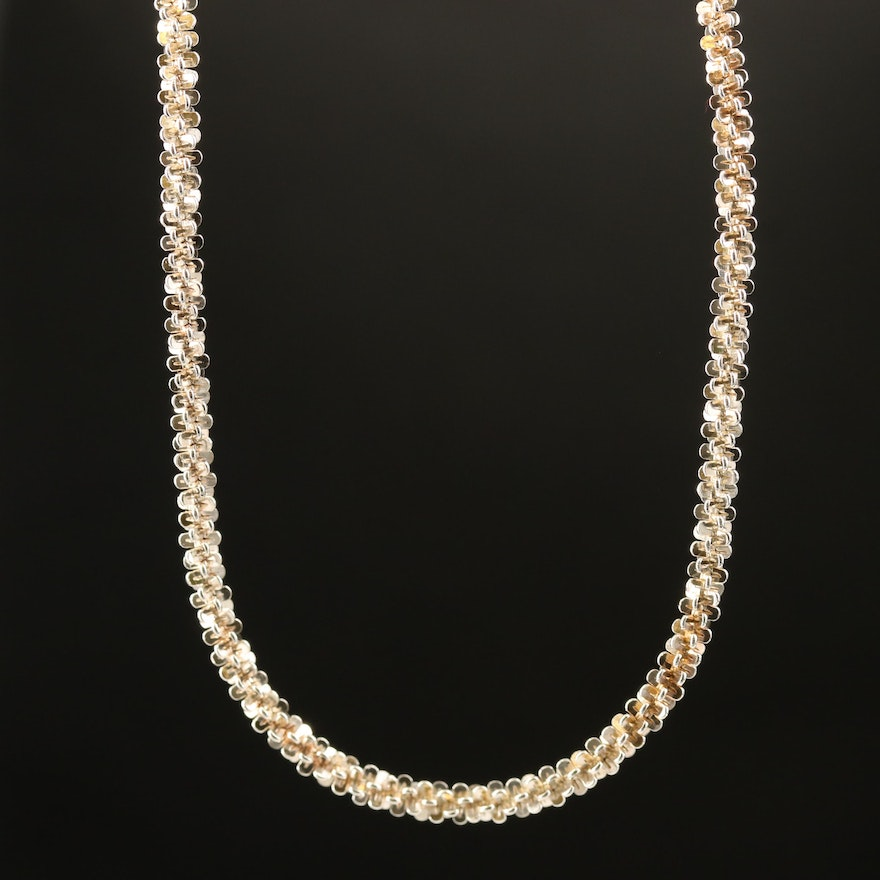 Italian Sterling Sparkle Necklace