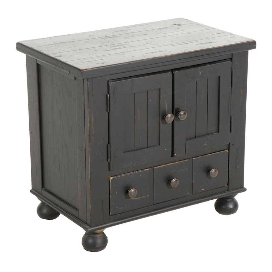 "Broyhill ""Attic Heirlooms"" Painted Wood Cabinet"