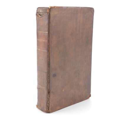 """The Works of Flavius Josephus"" Vol. I Annotated by William Whiston, 1829"