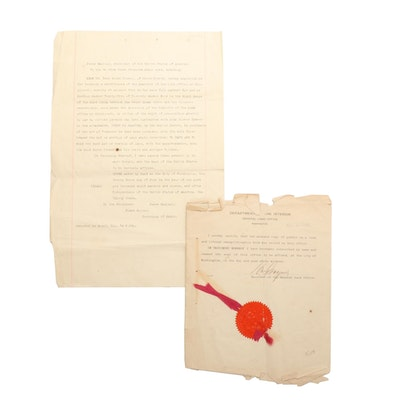 1910 Certified Copy of an 1811 Land Grant in Cincinnati