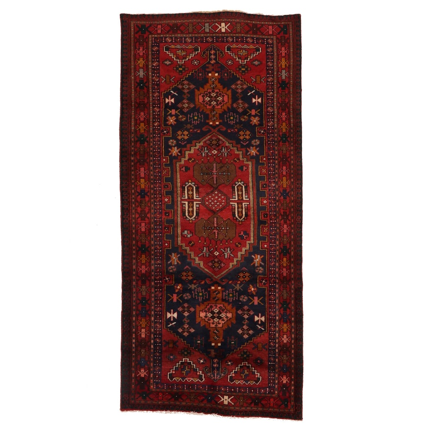 3'8 x 8'1 Hand-Knotted Persian Kurdish Area Rug