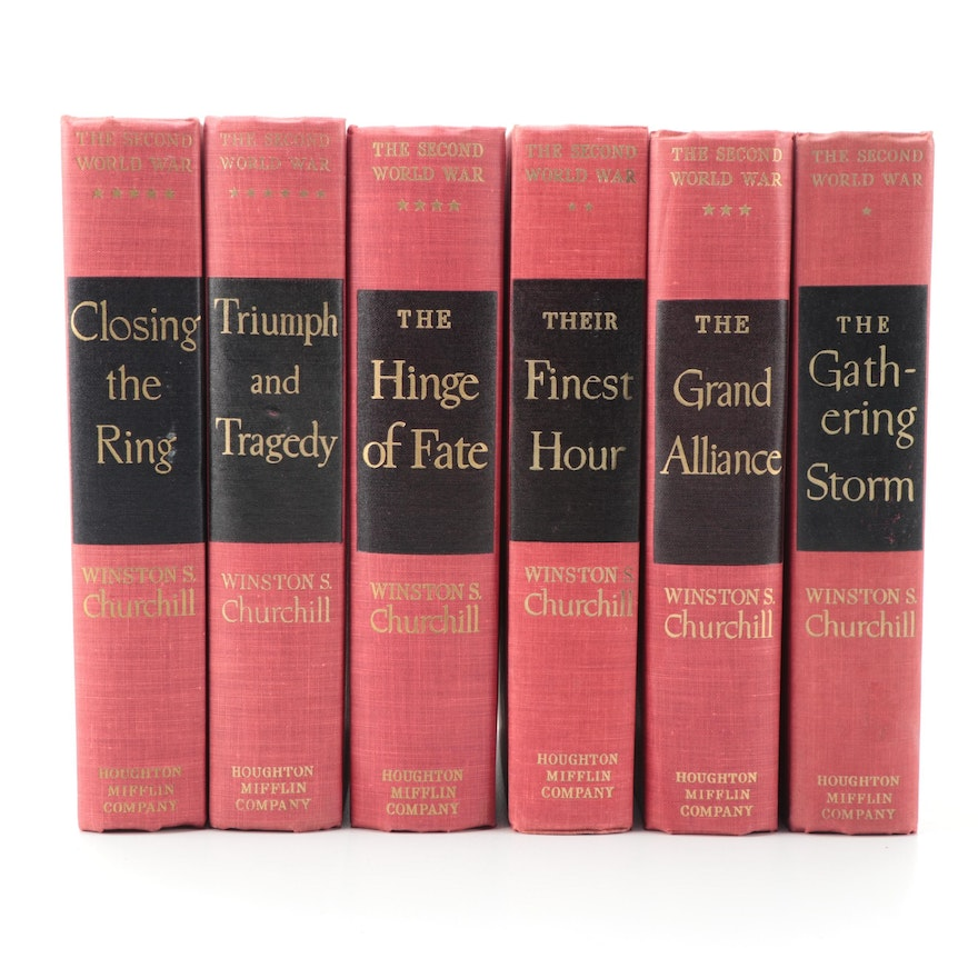 """The Second World War"" Complete Set by Winston Churchill, 1948–1953"