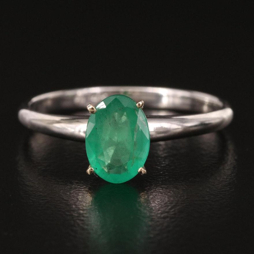 14K 1.06 CT Emerald Ring