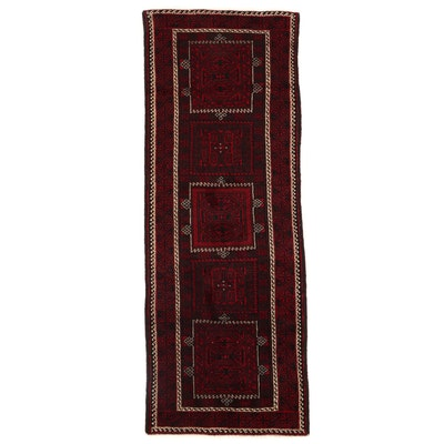3'9 x 9'11 Hand-Knotted Persian Turkmen Long Rug