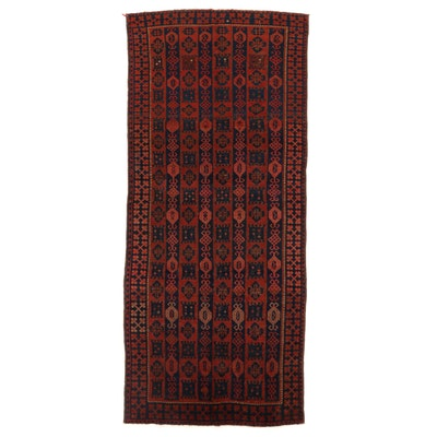 5'2 x 11'1 Hand-Knotted Afghan Turkmen Long Rug