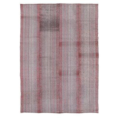 6'11 x 9'9 Handwoven Striped Rag Rug