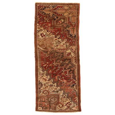 3'4 x 7'11 Hand-Knotted Persian Heriz Wagireh Sampler Rug