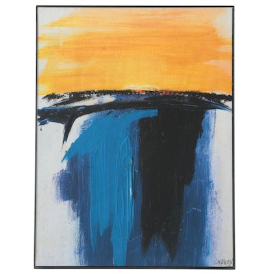 "Abstract Giclée after Robert Lackney ""The Setting Sun Sketch,"" 21st Century"