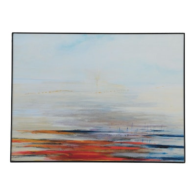 "Abstract Giclée after Robert Lackney ""The Crossing,"" 21st Century"