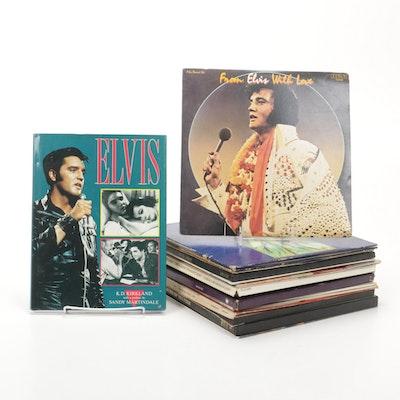 """Elvis"" by K.D. Kirkland and Eclectic Vinyl Record Album Assortment"