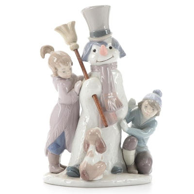 "Lladró ""The Snowman"" Porcelain Figurine Designed by Francisco Catalá"
