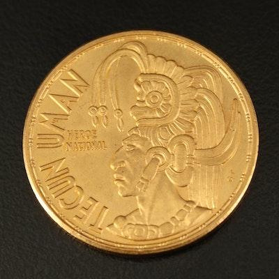 1965 Guatemala 1/2-Oz. Gold Tecun Uman Commemorative Coin