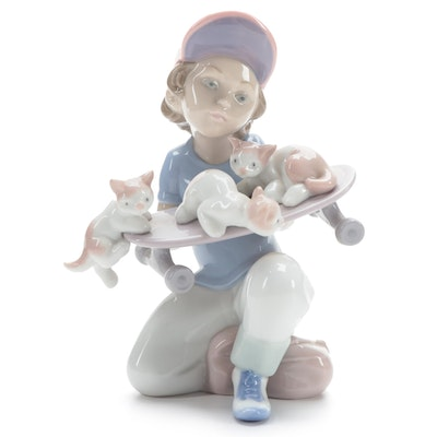 "Lladró ""Little Riders"" Porcelain Event Figurine Designed by Salvador Debón, 1994"