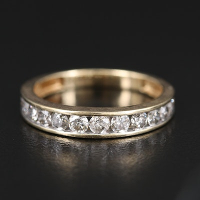 10K Diamond Channel Set Band