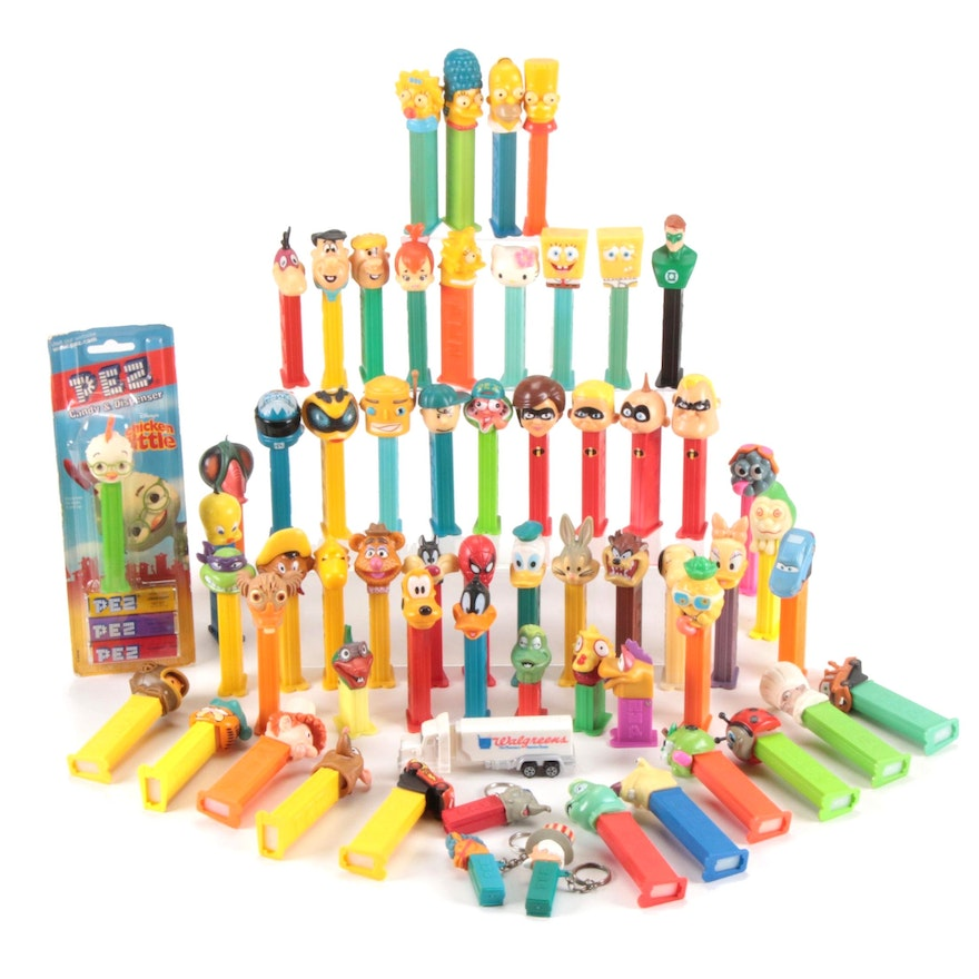 Pez Dispencer Collection Including the Simpsons, Looney Tunes, More