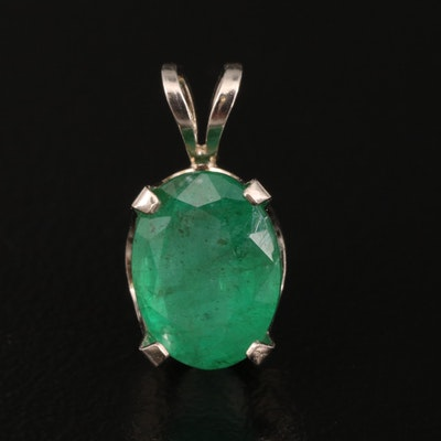 14K 1.89 CT Emerald Pendant