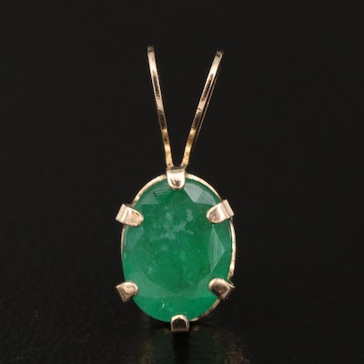 10K 1.24 CT Emerald Pendant