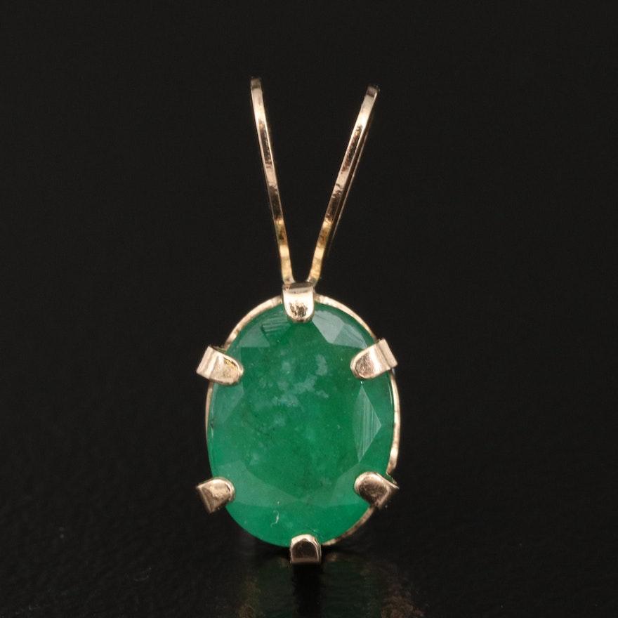 10K 1.24 CT Emerald Pendant