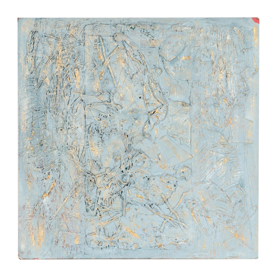 "Ronald Ahlström Abstract Mixed Media Painting ""Untitled"""