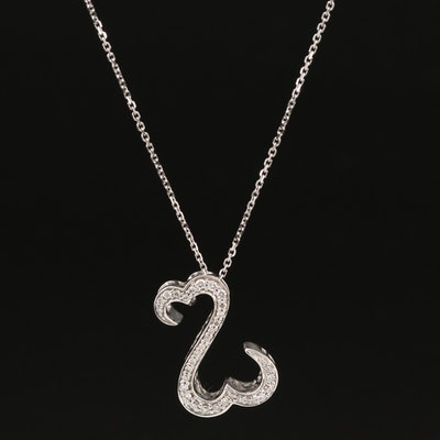 "Jane Seymour 14K Diamond ""Open Hearts"" Necklace"