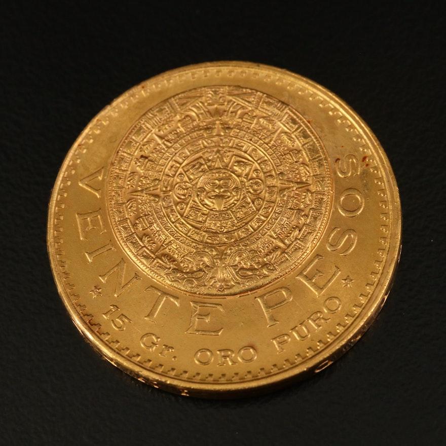 1959 Mexico 20-Pesos Gold Coin