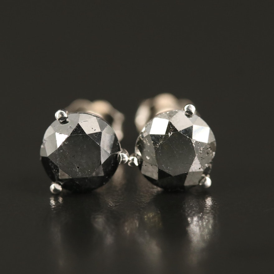 14K 4.78 CTW Diamond Martini Setting Stud Earrings