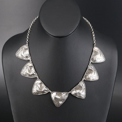 Israeli Postmodern Noy Li Sterling Necklace