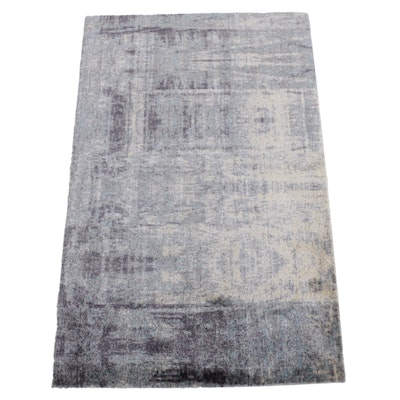 2'6 x 4' Machine Made Indian Wool Accent Rug