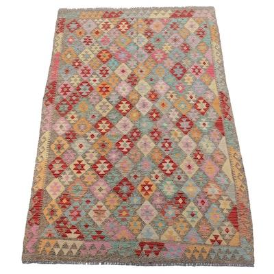 5' x 8' Handwoven Afghan Kilim Area Rug