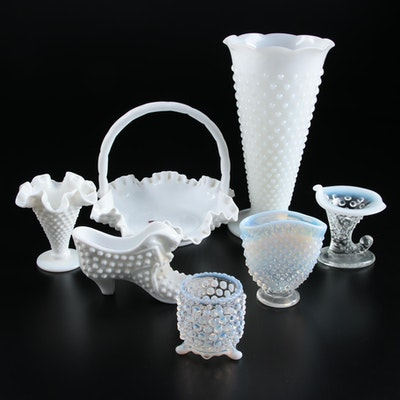 Fenton and Other Mid Century Hob Nail and Milk Glass