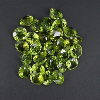 Loose 82.48 Mixed Faceted Peridot