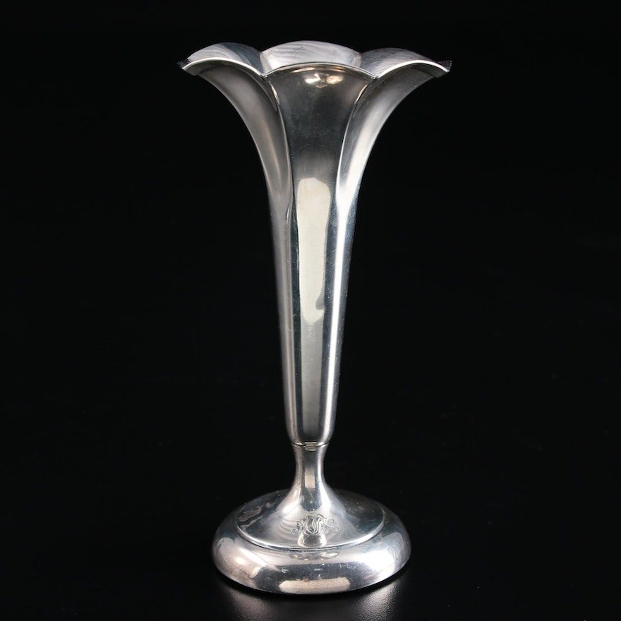 Tiffany & Co. Weighted Sterling Silver Trumpet Vase, 1913–1947