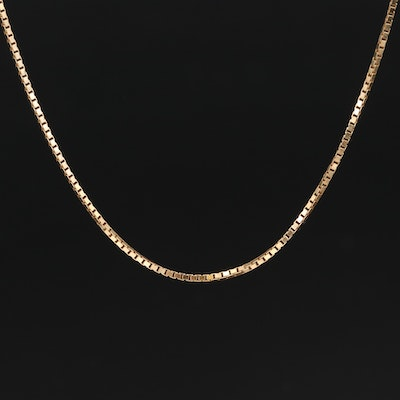 Italian 14K Box Chain Necklace