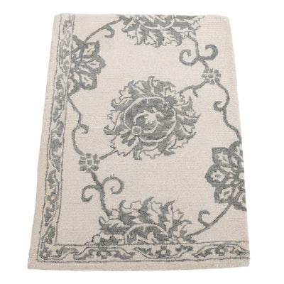 2'7 x 3'7 Hand-Tufted Turkish Carpet Remnant