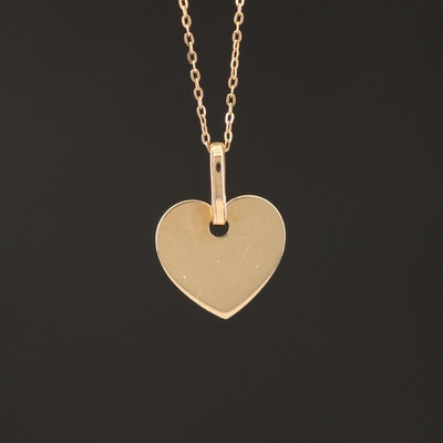 14K Heart Pendant Necklace