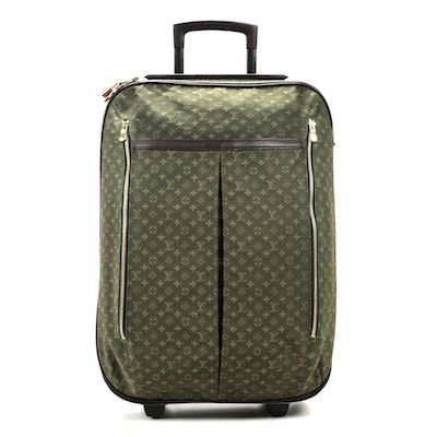 Louis Vuitton Annette Trolley in Green Monogram Mini Lin Canvas