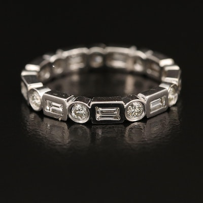 14K 1.01 CTW Diamond Geometric Eternity Band